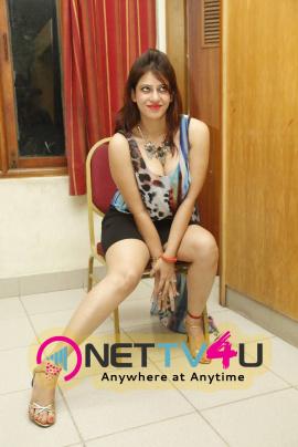 Latest Photos Of Actress Ahaana At Basthi Audio Launch