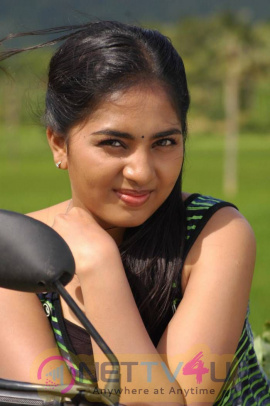 Latest Photos Of Actress Srushti Dange From Puriyatha Anantham Puthithaga Aarambam Movie