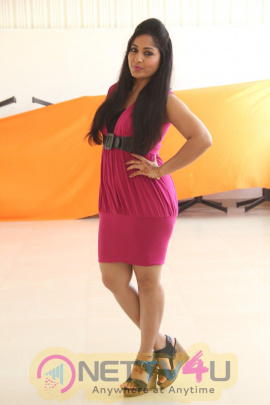 latest photos of madhavi latha in pink dress