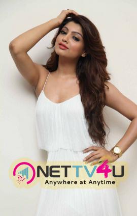 Latest Photos Of Tollywood Actress Akanksha Puri In White Dress