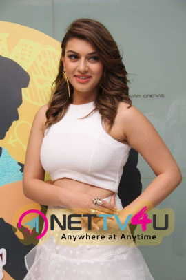 latest stills of actress hansika at romeo juliet movie premiere show