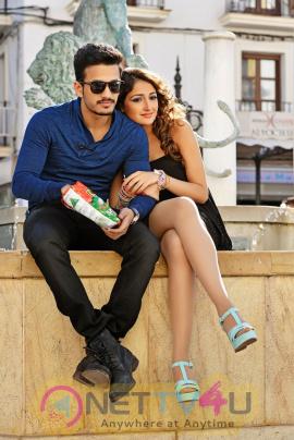 latest stills of akhil debut movie latest stills