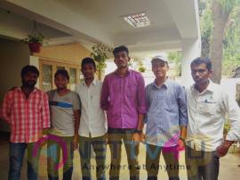 Maaverankittu Movie 1st Day Dubbing Stills & Actor Vishnu Vishal & Sri Divya Photos Tamil Gallery