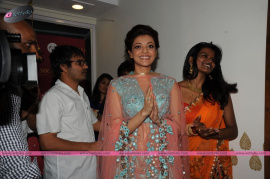 muktah art studio inaguration by kajal stills 21