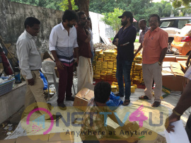 Nadigar Sangam Provides Diwali Gifts Photos Tamil Gallery