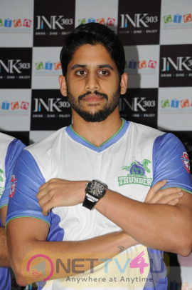 Naga Chaitanya At CBL Telugu Thunders Team Jersey Launch Photos Tamil Gallery