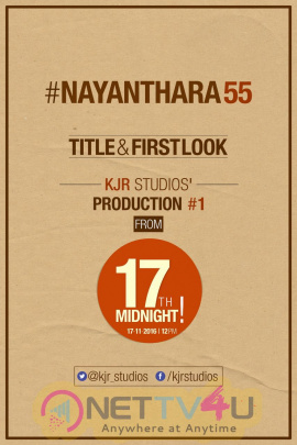 Nayanthara Untitled Project Title And First Look Will Be Released On November 17th Telugu Gallery