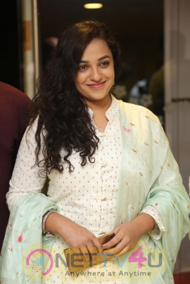 Nithya Menen Lovely Stills At 100 Days Of Love Movie Audio Launch Telugu Gallery
