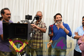 Pawan Kalyan At Nithiin New Movie Opening Fascinating Pics