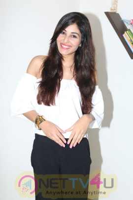 Pooja Chopra Electronic Interviews Are Happening For The Success Of Her Short Film Ouch Photos Hindi Gallery