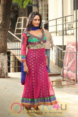 Pooja Sri Good Looking Stills  At Cottage Craft Mela 2016 Launch Telugu Gallery