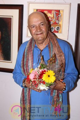 Prem Chopra & Anup Jalota At International Art Exhibition Photos
