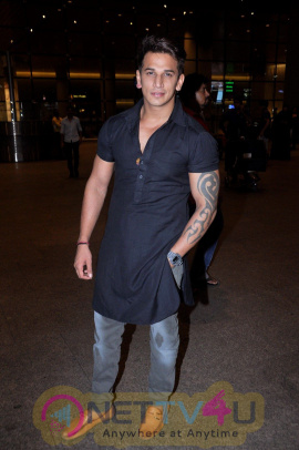 Prince Narula & Kailash Kher Spotted At Airport Exclusive Photos Hindi Gallery