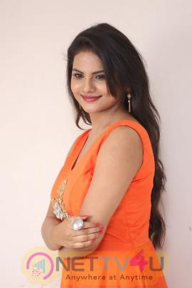 Actress Priyanka Sharma  Stylish Photos At Karulo Shikarukelithe Movie Teaser Launch