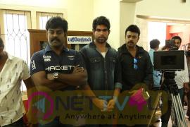 Producer & Actor R K Suresh Debuts As Hero In Thani Mugam Movie Pooja Stills Tamil Gallery