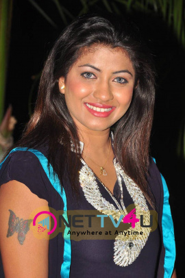 photo gallery of actress geethanjali in dark blue dress