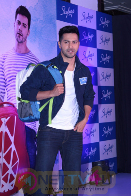 Press Confrence With Brand Ambassador Varun Dhawan The Launch Of New BackPack Stills Hindi Gallery