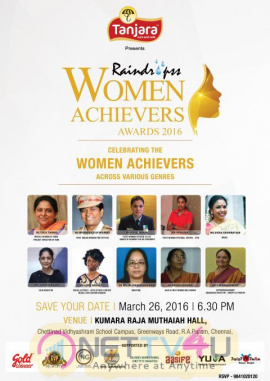 Press Invitation : Raindropss 4th Annual WOMEN ACHIEVER AWARDS Celebrating Women Achievers Across Various Genres On 26th March -