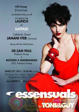 Press Invite Of Toni & Guy Essensuals At Vellore Tamil Gallery
