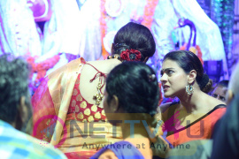 Ranbir Kapoor & Kajol Visits North Mumbai Durga Pooja 2016 Photos Celebrated Stills Hindi Gallery