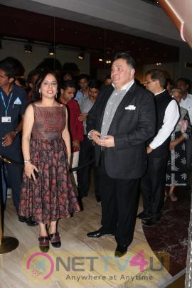 Rishi Kapoor Visits Art Display At Palladium Photos