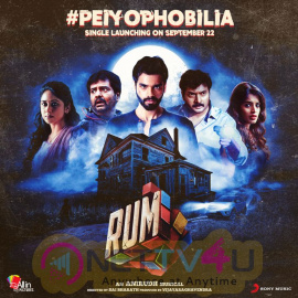 Rum Second Single Peiyophobilia From September 22nd Release Poster Tamil Gallery