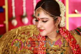 Rahul - Sridevi Seemantham Function Beauteous Colourful Photos Tamil Gallery