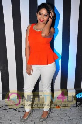 rare pics of actress madhulagna das at haveli coffee shop opening