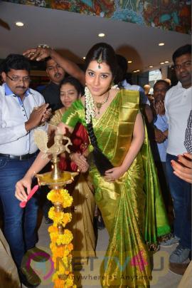 rashi khanna launches kanchipuram silks showroom stills