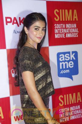 recent photos of actress pooja hegde at south indian international movie awards press meet 13