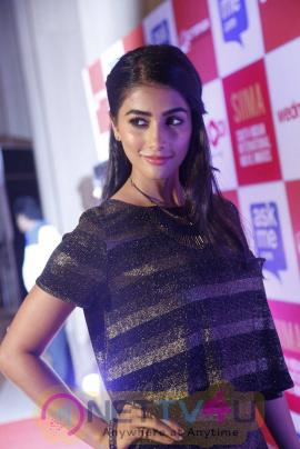 recent photos of actress pooja hegde at south indian international movie awards press meet 15