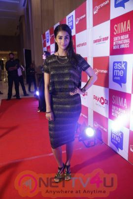recent photos of actress pooja hegde at south indian international movie awards press meet 16