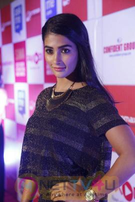 recent photos of actress pooja hegde at south indian international movie awards press meet 17