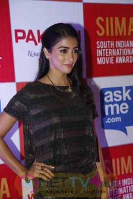 recent photos of actress pooja hegde at south indian international movie awards press meet 18