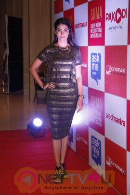 recent photos of actress pooja hegde at south indian international movie awards press meet 20