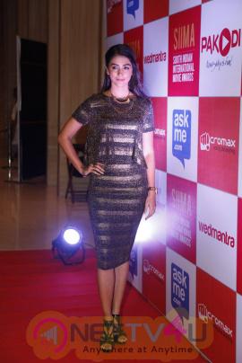 recent photos of actress pooja hegde at south indian international movie awards press meet 23