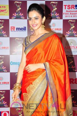 recent photos of actress rakul preet singh at tsr tv9 national film awards