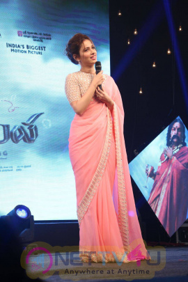 recent stills of actress tamanna at baahubali tamil trailer launch
