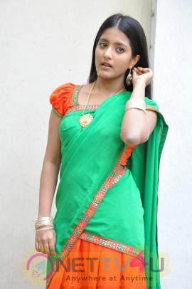 recent stills of actress ulka gupta at andhra pori movie press meet