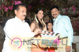 RP Patnaik And Anita Hassanandani At Manalo Okkadu Movie Opening Stills Telugu Gallery
