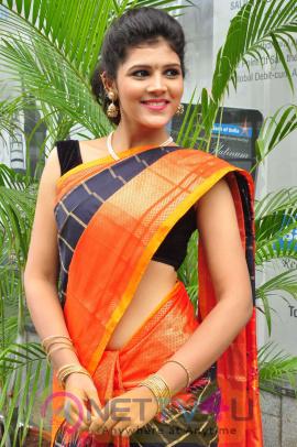 Sangeetha Kamath Statuesque Photos At Silk India Expo Curtain Raiser Telugu Gallery