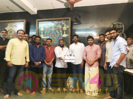 Sathyaraj Presents Nadhambal Film Factory Production No 3 Sibiraj Movie Started Today Tamil Gallery