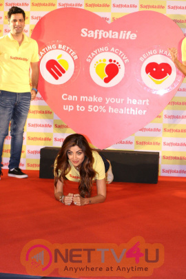 Shilpa Shetty, Kunal Kapur, Cyrus Sahukar Celebrate Saffola Life World Heart Day For Healthy Photos