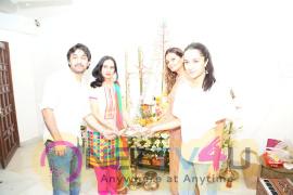 Shraddha Kapoor Ganpati Sthapana Graceful Photos Hindi Gallery
