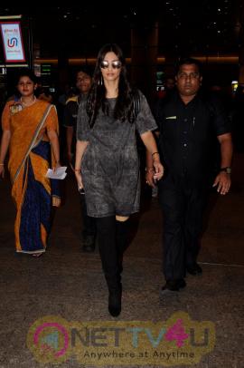Sonam Kapoor & Mugdha Godse Spotted At Airport Stills