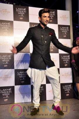 Sushant Singh Rajput & Shraddha Kapoor Walks The Ramp For Manish Malhotra At LFW 2016 Images Hindi Gallery