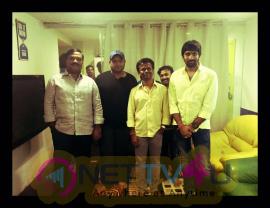 Sai Dharam Tej Gopichand Malineni Film At Music Sitting Images Telugu Gallery
