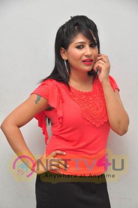 Stills Of Actress Madhulagna Das At Andala Chandamama Press Meet