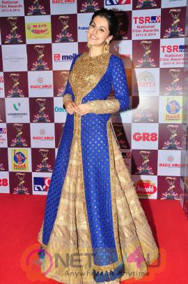 super cool photos of actress tapsee at tsr tv9 national film awards
