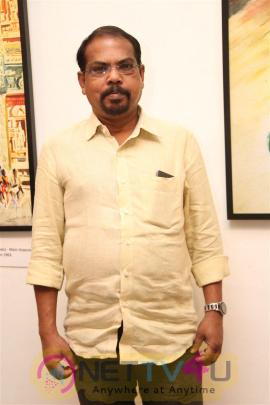 Tamil Actor Sivakumar Was Inaugurated Photos At Lalit Kala Academi Tamil Gallery